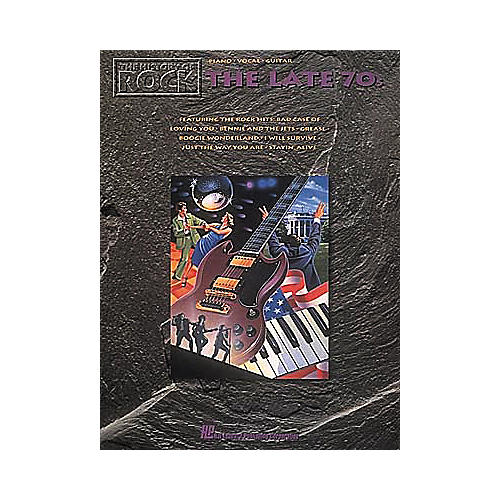 Hal Leonard The History Of Rock The Late '70s Piano, Vocal, Guitar Songbook-thumbnail