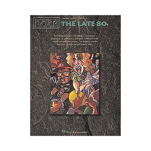Hal Leonard The History Of Rock The Late '80s Songbook-thumbnail