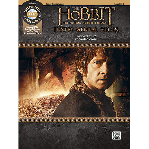 Alfred The Hobbit - The Motion Picture Trilogy Instrumental Solos Tenor Sax Book & CD Level 2-3 Songbook-thumbnail