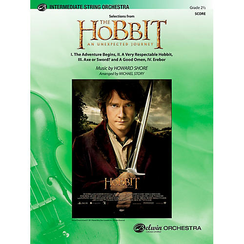 Alfred The Hobbit: An Unexpected Journey, Selections from String Orchestra Grade 2.5 Set-thumbnail