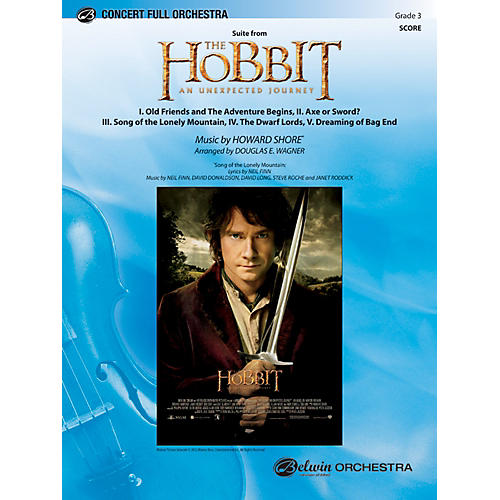 Alfred The Hobbit: An Unexpected Journey, Suite from Concert Full Orchestra Grade 3 Set-thumbnail
