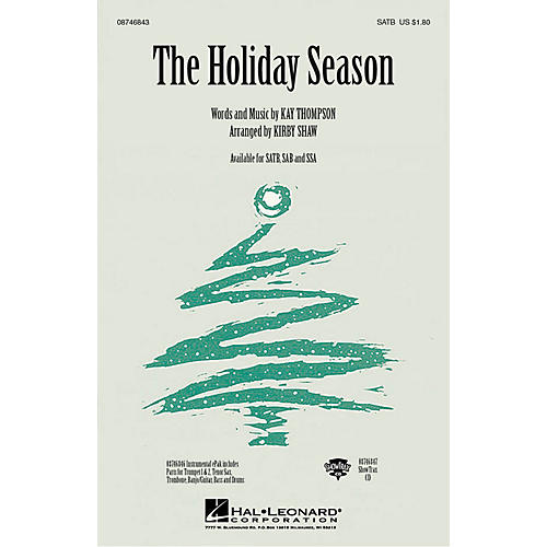 Hal Leonard The Holiday Season ShowTrax CD Arranged by Kirby Shaw