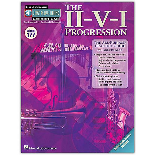 Hal Leonard The II-V-I Progression - Jazz Play-Along Lesson Lab Vol. 177 Book/CD-thumbnail
