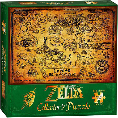 USAOPOLY The Legend of Zelda Hyrule Map Collector's Puzzle