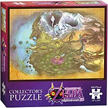 USAOPOLY The Legend of Zelda Majora's Mask Termina Map Collector's Puzzle