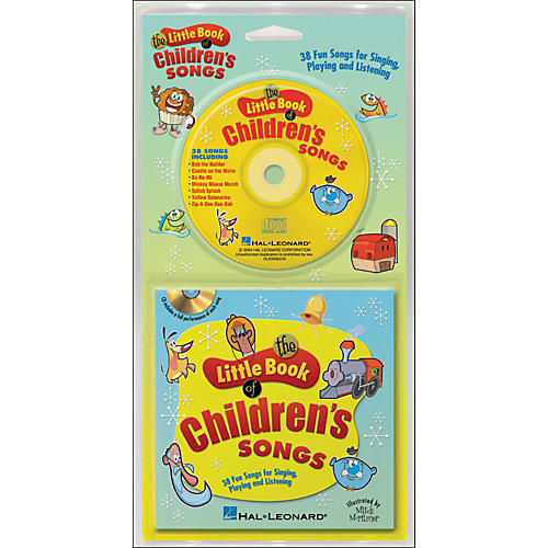 Hal Leonard The Little Book Of Children's Songs Book/CD arranged for piano, vocal, and guitar (P/V/G)-thumbnail