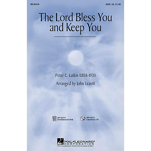Hal Leonard The Lord Bless You and Keep You CHOIRTRAX CD Arranged by John Leavitt