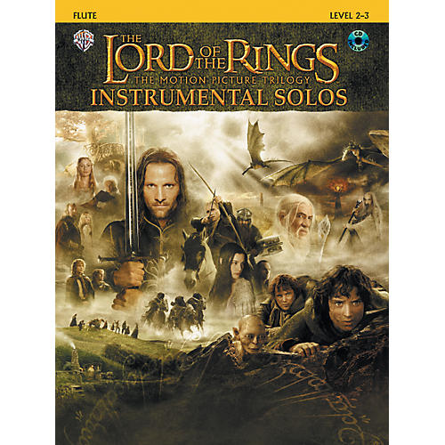Alfred The Lord of the Rings Instrumental Solos Flute Book & CD-thumbnail