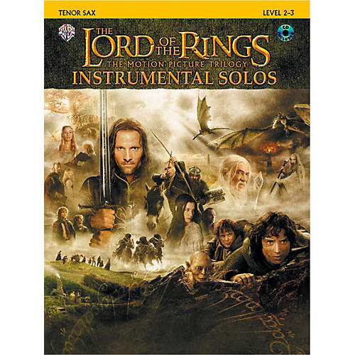 Alfred The Lord of the Rings Instrumental Solos Tenor Sax Book & CD-thumbnail