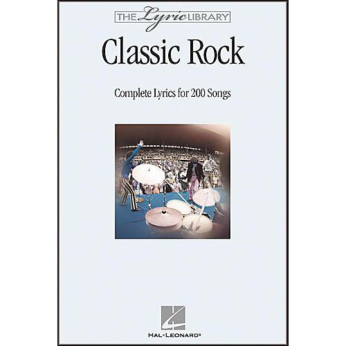 Hal Leonard The Lyric Library: Classic Rock Book