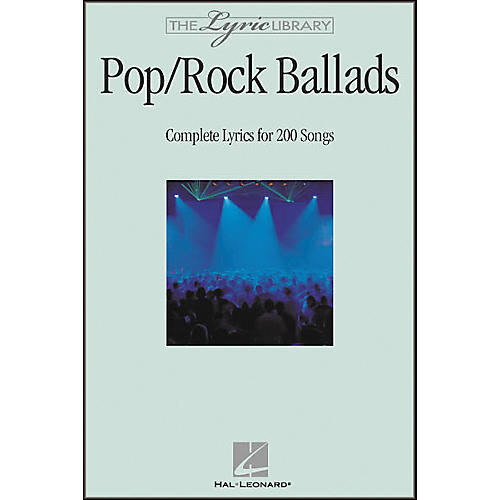 Hal Leonard The Lyric Library: Pop/Rock Ballads Book-thumbnail
