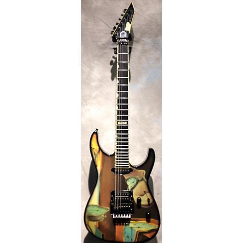 ESP The Mirage Custom Solid Body Electric Guitar Custom Clock Graphic