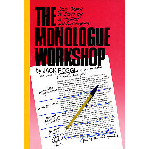 Applause Books The Monologue Workshop Applause Acting Series Series Softcover Written by Jack Poggi