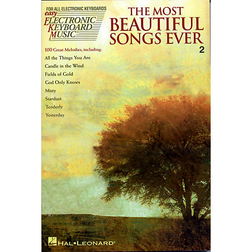 Hal Leonard The Most Beautiful Songs Ever - Easy Electronic Keyboard Music Series Vol. 2-thumbnail