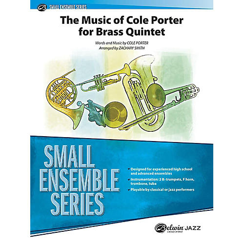 Alfred The Music of Cole Porter for Brass Quintet Concert Band Grade 3.5 Set-thumbnail