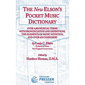 Carl Fischer The New Elsons Pocket Music Dictionary by Carl Fischer