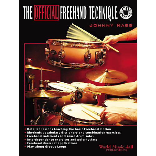 Hudson Music The Official Freehand Technique by Johnny Rabb Book and CD