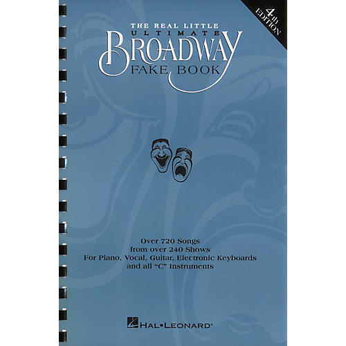 Hal Leonard The Real Little Ultimate Broadway Fake Book 5th Edition