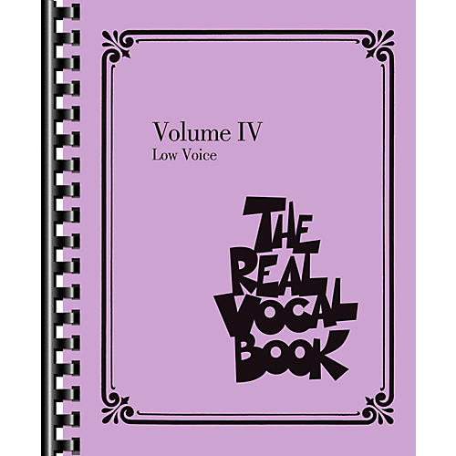 Hal Leonard The Real Vocal Book Volume 4 - Low Voice-thumbnail