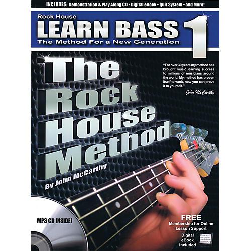 Rock House The Rock House Method - Learn Bass Guitar Book 1 (Book/CD)-thumbnail