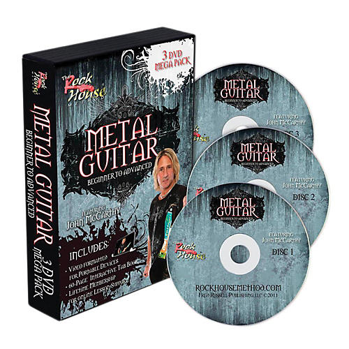 Hal Leonard The Rock House Method Metal Guitar Mega Pack (3-DVD Set)-thumbnail