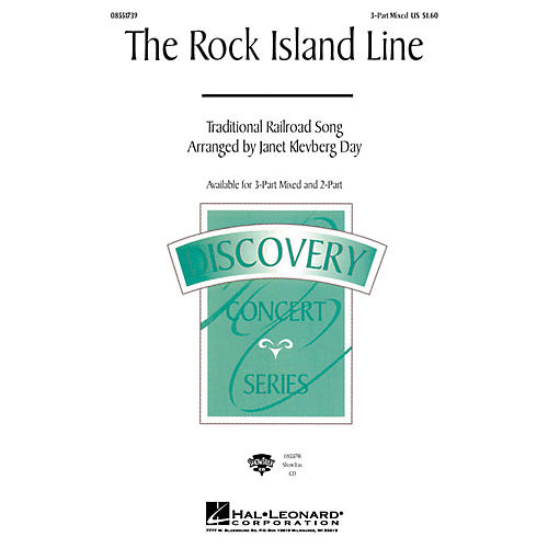 Hal Leonard The Rock Island Line 3-Part Mixed arranged by Janet Klevberg Day