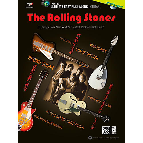 Alfred The Rolling Stones - Ultimate Easy Guitar Play-Along (Book & DVD)-thumbnail