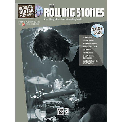 Alfred The Rolling Stones Ultimate Guitar Play-Along (Book/2 CD)-thumbnail