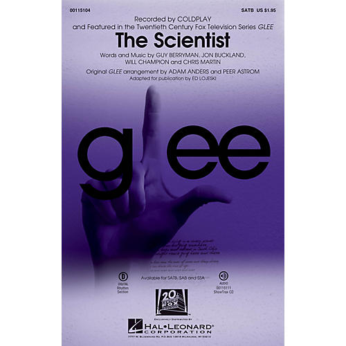 Hal Leonard The Scientist SATB by Glee Cast arranged by Adam Anders