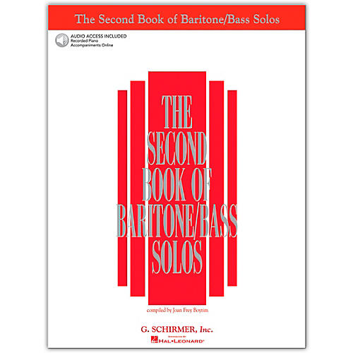 G. Schirmer The Second Book Of Baritone / Bass Solos Book/2CD Pkg