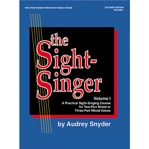 Alfred The Sight-Singer Mixed Volume 1 Teacher Edition