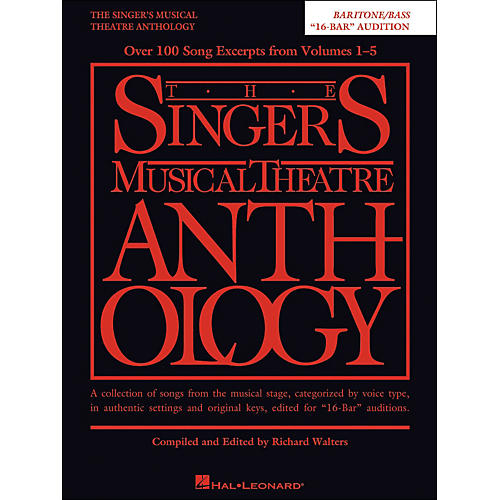 Hal Leonard The Singer's Musical Theatre Anthology Baritone/Bass 16 Bar Audition-thumbnail