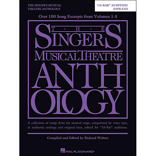 Hal Leonard The Singer's Musical Theatre Anthology Soprano 16 Bar Audition-thumbnail