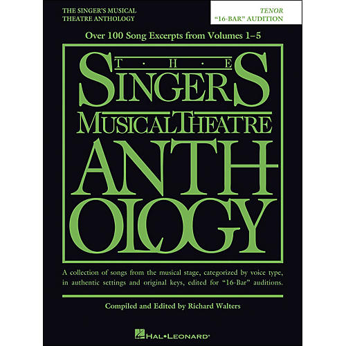 Hal Leonard The Singer's Musical Theatre Anthology Tenor 16 Bar Audition-thumbnail