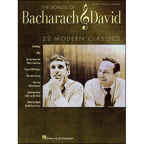 Hal Leonard The Songs Of Bacharach And David arranged for piano, vocal, and guitar (P/V/G)