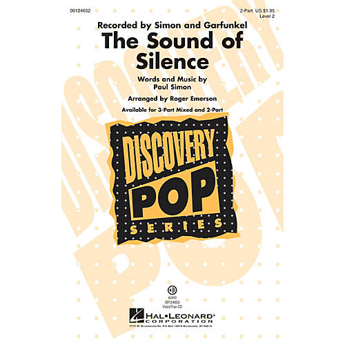 Hal Leonard The Sound of Silence (Discovery Level 2) 2-Part by Paul Simon arranged by Roger Emerson