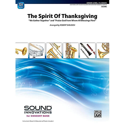 Alfred The Spirit of Thanksgiving Concert Band Grade 1.5 Set-thumbnail