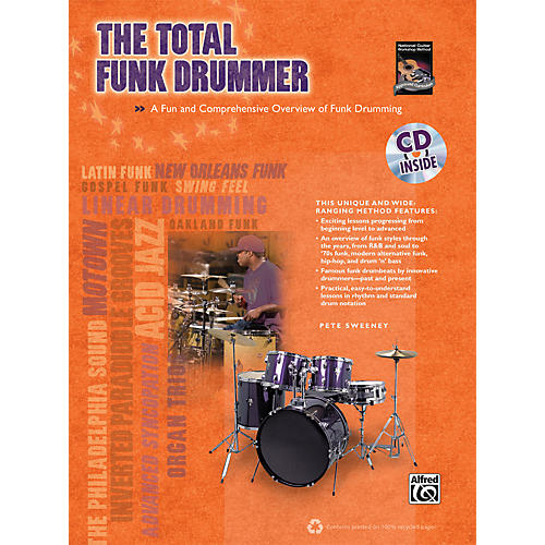 Alfred The Total Funk Drummer (Book/CD)-thumbnail