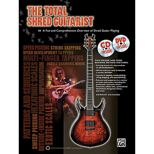 Alfred The Total Shred Guitarist (Book/CD/DVD)-thumbnail