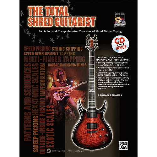 Alfred The Total Shred Guitarist Book & CD