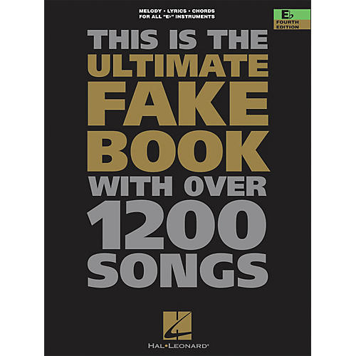 Hal Leonard The Ultimate Fake Book with Over 1200 Songs E Flat Instruments Fourth Edition-thumbnail