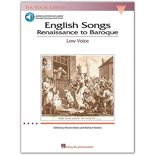 Hal Leonard The Vocal Library Series - English Songs: Renaissance To Baroque for Low Voice (Book/Online Audio)-thumbnail