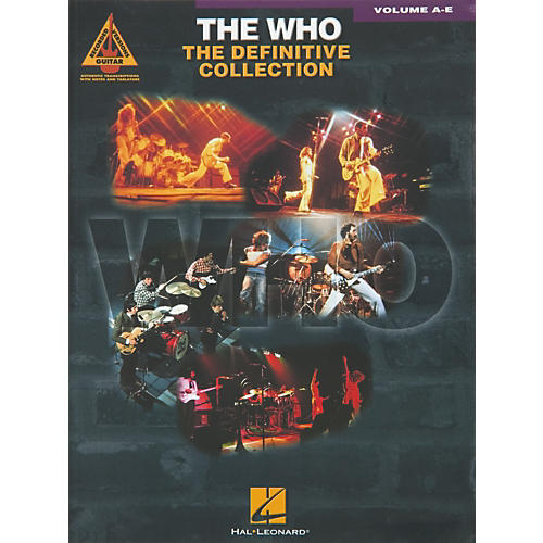 Hal Leonard The Who Definitive Collection Guitar Tab Songbook Volumes A-E