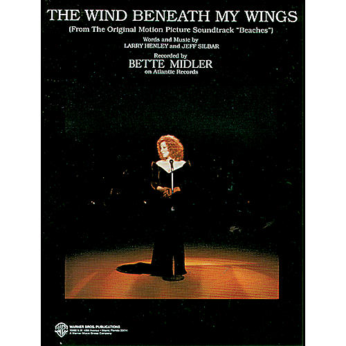 Alfred The Wind Beneath My Wings (from Beaches) Piano/Vocal/Chords (B-flat)