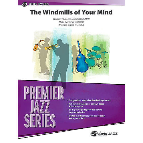 BELWIN The Windmills of Your Mind Jazz Ensemble Grade 5 (Advanced / Difficult)-thumbnail