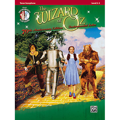 Alfred The Wizard of Oz 70th Anniversary Edition Instrumental Solos: Tenor Sax (Songbook/CD)-thumbnail