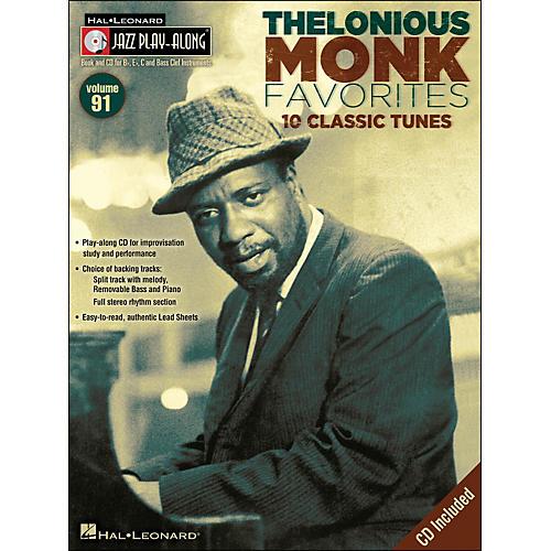 Hal Leonard Thelonious Monk Favorites - Jazz Play-Along Volume 91 CD/Pkg