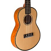Thinline Solid Spruce Top TunaUke Equipped Concert Ukulele