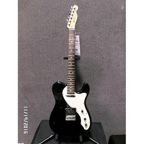 Squier Thinline Telecaster Hollow Body Electric Guitar Black and White