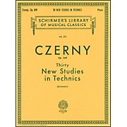 G. Schirmer Thirty New Studies In Technics Op 849 Etudes De Mecanisme 30 By Czerny